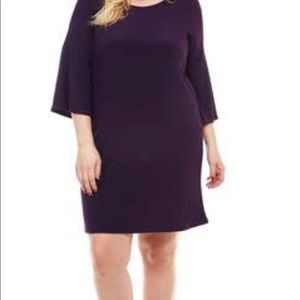 Eggplant Plus Size Bell Sleeve Dresses